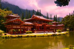 Byodo-in Temple, Oahu Hawaii Stock Images