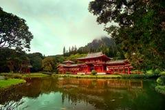 byodohawaii oahu tempel Royaltyfria Bilder