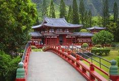 byodohawaii oahu tempel Arkivfoto
