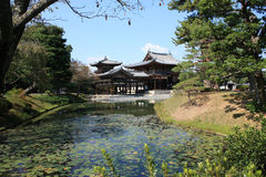 Byodoin菲尼斯大厅寺庙, Uji,京都日本 免版税库存图片