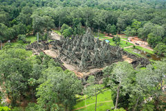 Byon Tample Bakheng Mount Angkor wat siem reap cambodia kingdom of wonder. Built at the centre of King Jayavarman's capital, Angkor nThom was the last state Royalty Free Stock Photo