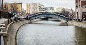 Bypass Canal in Moscow Royalty Free Stock Photo