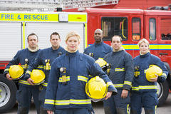 ByPortrait Of A Group Of Firefighters Stock Images