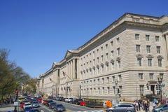 Byrå av gravyr och printing i Washington DC - WASHINGTON, DISTRICT OF COLUMBIA - APRIL 8, 2017 royaltyfri foto