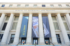 Byrå av gravyr och printing, Washington DC, USA royaltyfria foton