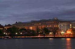 Byrå av gravyr- och printingstora byggnaden royaltyfria foton