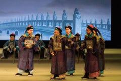 Byråkrater i den Qing Dynasty-Shanxi Operaticâ €œFushanen till Beijing† Royaltyfri Fotografi