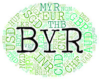 Byr Currency Indicates Belarusian Rubles And Coin Stock Images