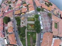 Byrds eye view Bulgaria Nessebar sunny day 2014 Royalty Free Stock Photo