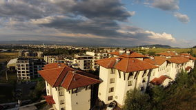 Byrds eye view Bulgaria Sofia sunny day 2014 Royalty Free Stock Image