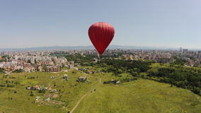 Air balloon birds eye view Bulgaria Stock Image
