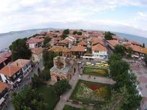 Byrds Nessebar för Bulgarien för ögonsikt solig dag 2014 Royaltyfri Foto
