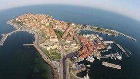 Byrds Nessebar för Bulgarien för ögonsikt solig dag 2014 Royaltyfri Fotografi