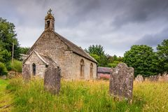Byrness St Francis kościół Zdjęcia Royalty Free