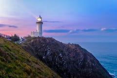 Byron海湾灯塔 免版税图库摄影