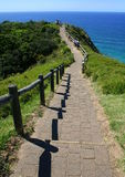 Byron Bay. The pathway leading to Byron Bay in Australia on the East Coast Stock Images
