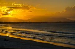Byron Bay en la puesta del sol Imagen de archivo libre de regalías
