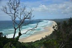 Byron Bay - lato della spiaggia fotografie stock libere da diritti