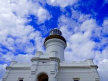 Byron Bay Lighthouse Photos libres de droits