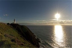 Byron Bay Lighthouse into the distance Royalty Free Stock Image