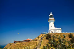 Byron Bay Lighthouse Rises High on Point Stock Photos