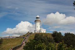 Byron Bay Lighthouse. Taken at Byron Bay or close to there, New South Wales, Australia . Amazing view. You guys need to come here Stock Photography