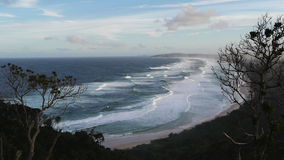 Byron bay surf beach stock footage