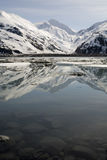 Byron Glacier, Alaska, in spring Stock Images