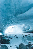 Byron Glacier Ice Cave Royalty Free Stock Images