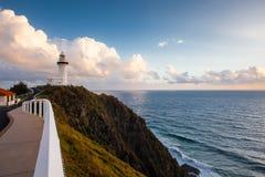 Byrong Bay lighthouse at sunrise. Australia Royalty Free Stock Image