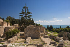 Byrsa hill - the Punic quarter Royalty Free Stock Image