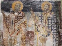 Bysantinsk freskomålning, Aten, Grekland Arkivfoton