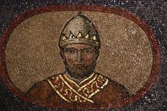 Bysantinsk freskomålning i Rome royaltyfri illustrationer
