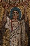 Bysantinsk freskomålning i Rome Arkivfoton