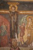 Bysantinsk freskomålning i Rome Royaltyfria Foton