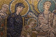 Bysantinsk freskomålning i Rome Arkivbilder