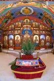 Bysantinsk katolsk kyrka för förklaring arkivfoto