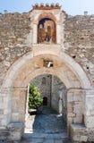 Bysantinsk kloster Mystras Arkivfoton