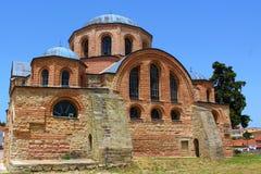 Bysantinsk kyrka (annonsen 1152), på Feres, Grekland Fotografering för Bildbyråer