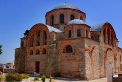 Bysantinsk kyrka (annonsen 1152), på Feres, Grekland Royaltyfri Bild