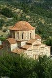 Bysantinsk kyrka i Mystra arkivbilder