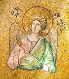 Bysantinsk mosaik av ärkeängelRaphaelen Fotografering för Bildbyråer