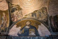 Bysantinsk mosaik i Istanbul Arkivbilder