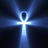 błyski światła ankh egipski symbol życia Fotografia Royalty Free