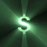 błyski światła waluty dolarowy znak Fotografia Stock