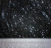 Błyskotliwość rocznik zaświeca tła białego i czarnego abstrakcjonistycznego tło defocused Zdjęcia Stock