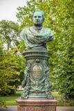 Byst av Andreas Zelinka i Wien Stadtpark Royaltyfri Bild