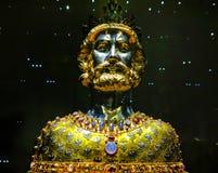 Byst av Charlemagne, domkyrka i Aachen, Tyskland Arkivbilder