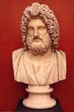 Byst av den grekiska guden Zeus Royaltyfri Fotografi