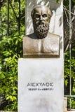 Byst av den tragiska poeten Aeschylus royaltyfria foton